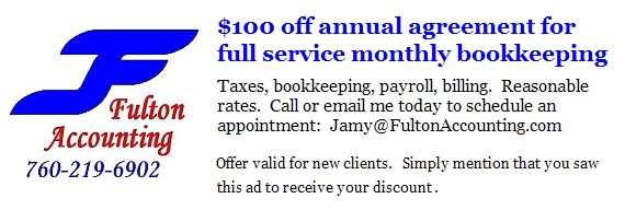 Fulton Accounting $100 off!